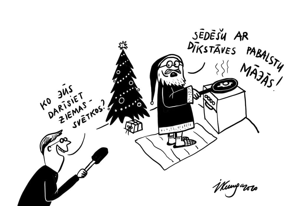 Karikatura_21-12-2020 - Weihnachstmann in Kurzarbeit