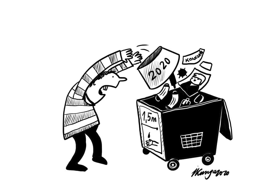 Karikatura_28-12-2020 - Das Jahr 2020.