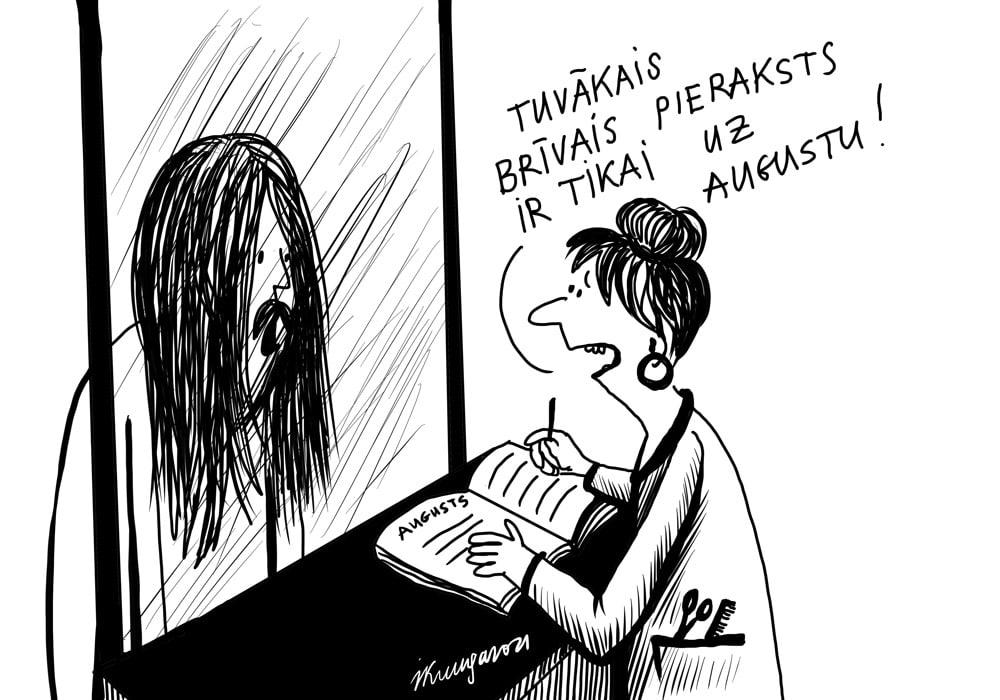 Karikatura_01-03-2021- Nächster Frisör-Termin nur im August
