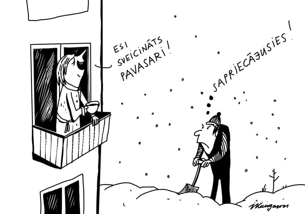 Karikatura_08-03-2021 - Frühling, sei begrüßt! - Vorfreude!